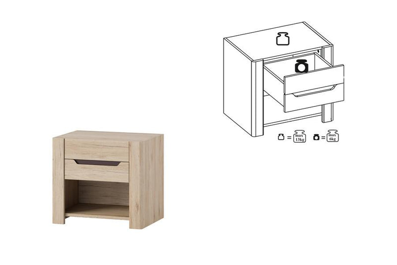 Desjo 52 Bedside Table