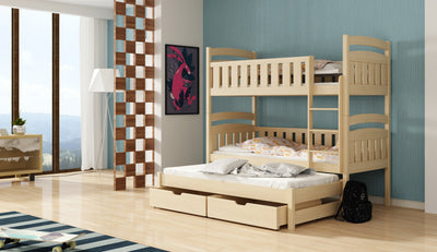 Ola Bunk Bed with Trundle and Storage