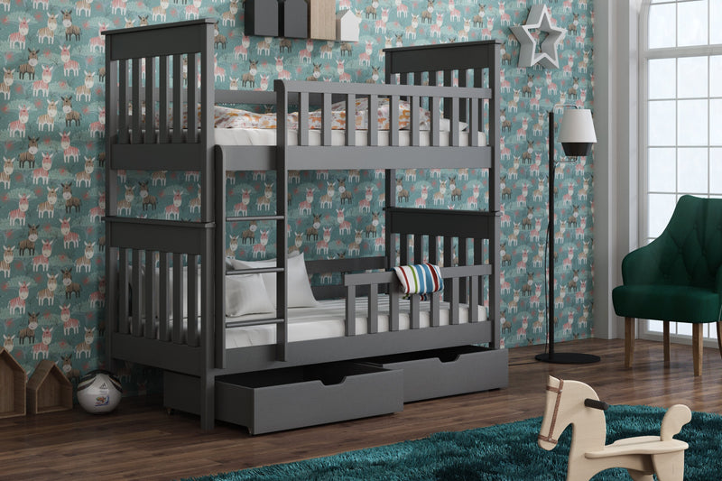 Wooden Bunk Bed Oliver with Storage