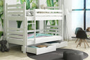 Wooden Bunk Bed Patryk with Storage