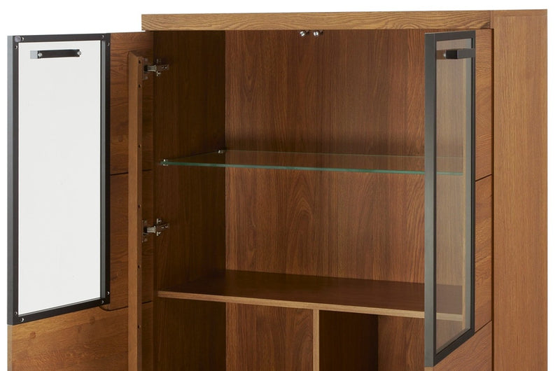 Pratto 15 Display Cabinet in Rustic Oak