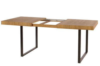 Pratto 40 Extending Dining Table in Rustic Oak
