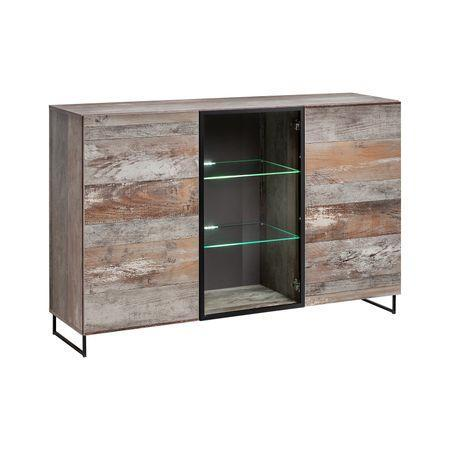 Plank Display Sideboard Cabinet
