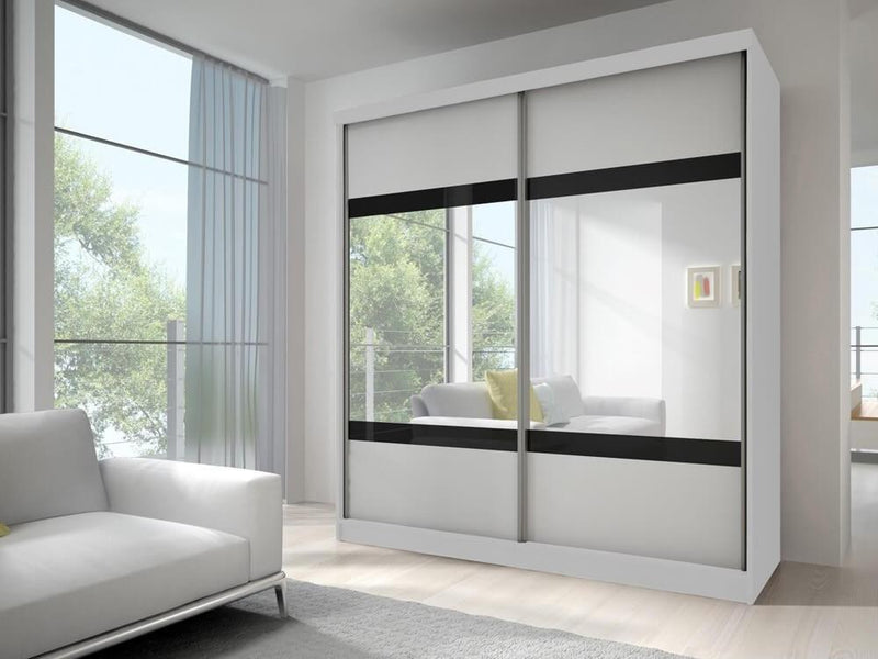 Multi 2 Sliding Mirror Door Wardrobe 233cm