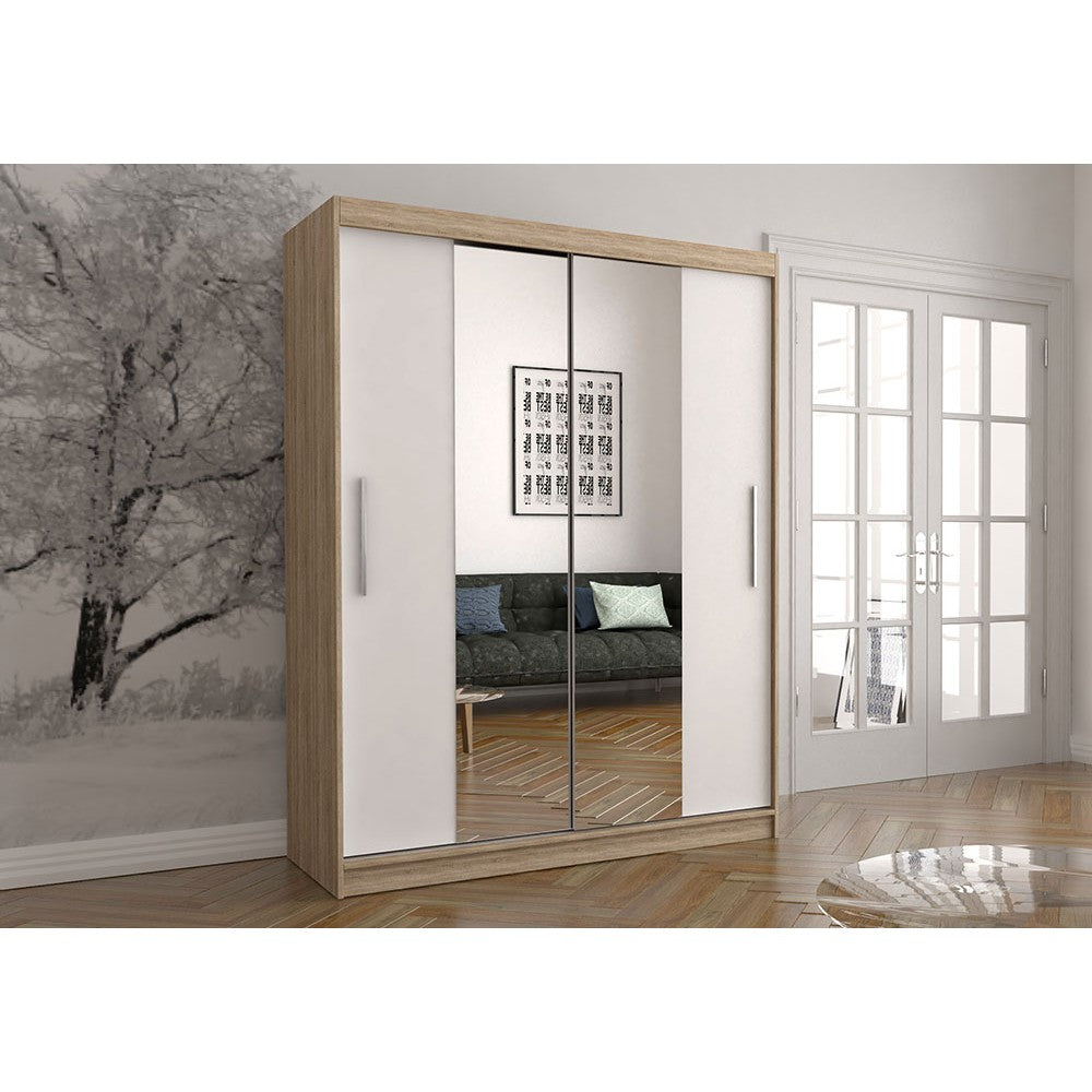 Vista 01 Sliding Mirror Door Wardrobe 150cm