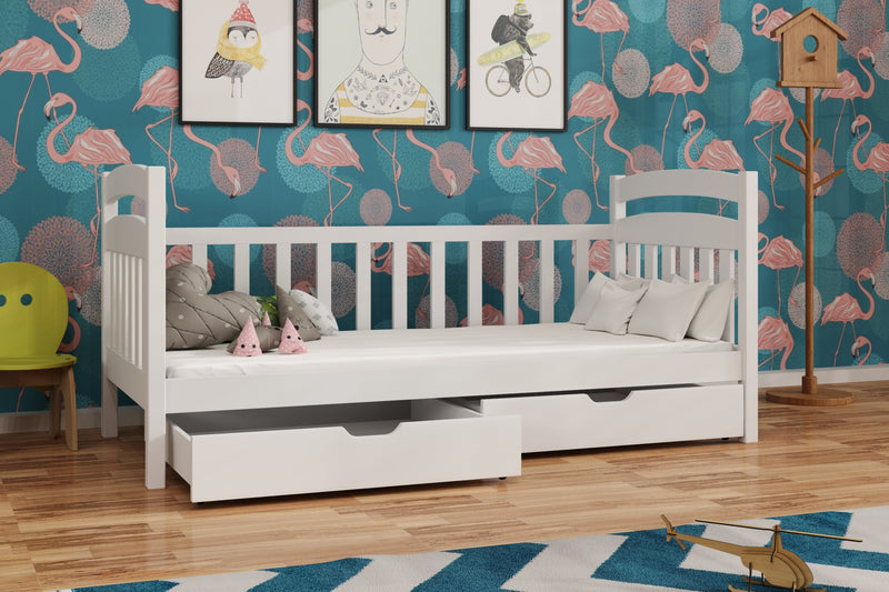Wooden Single Bed Tobias with Storage