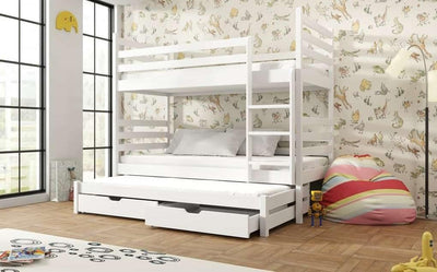 Tomi Bunk Bed with Trundle and Storage