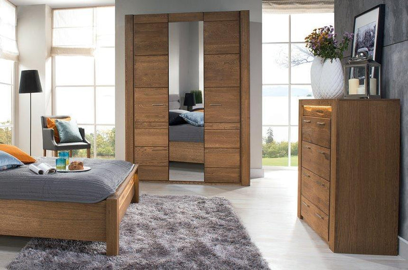 Velvet 77 - 4 Door Mirrored Wardrobe 205cm