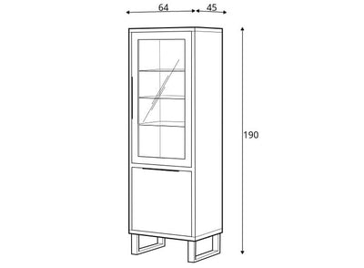 Halle 05 Tall Display Cabinet