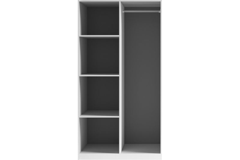 Moore Sliding Door Mirrored Wardrobe