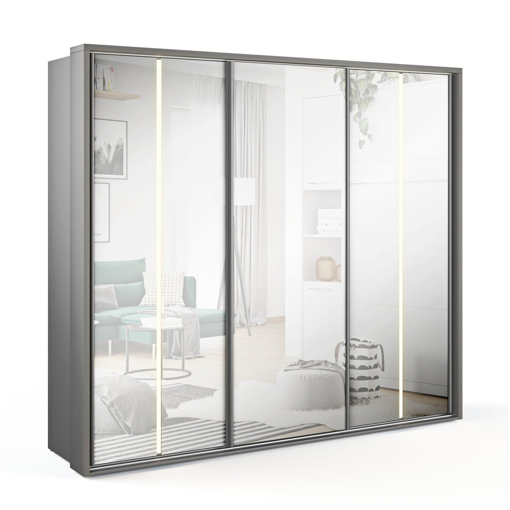 Arti 20 - 3 Sliding Door Wardrobe 250cm with LED