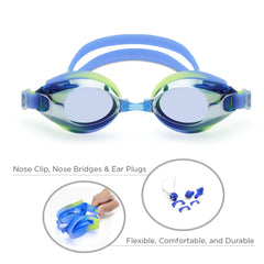 Classic Adult Anti-Glare Swim Goggles (Blue/Yellow)