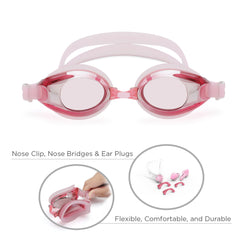 Classic Adult Anti-Glare Swim Goggles (Pink)