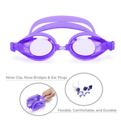 Classic Adult Anti-Glare Swim Goggles (Purple)