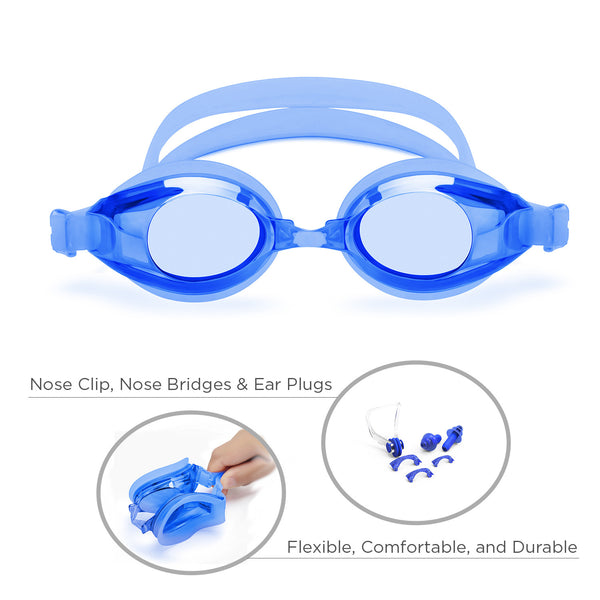 Classic Adult Anti-Glare Swim Goggles (Blue)