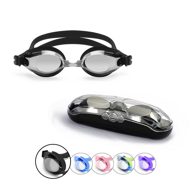 Classic Adult Anti-Glare Swim Goggles (Black)