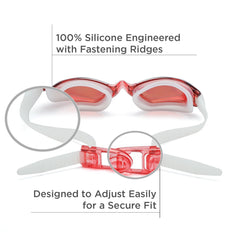 Comfort Adult Anti-Glare Swim Goggles (Red)
