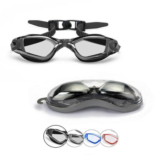 Comfort Adult Anti-Glare Swim Goggles (Black)