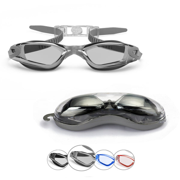 Comfort Adult Anti-Glare Swim Goggles (Gray)