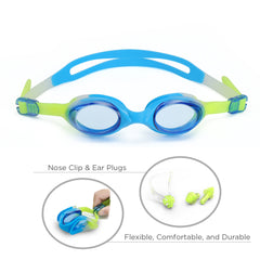 First-Start Kids Anti-Fog Swim Goggles (Blue/Yellow)