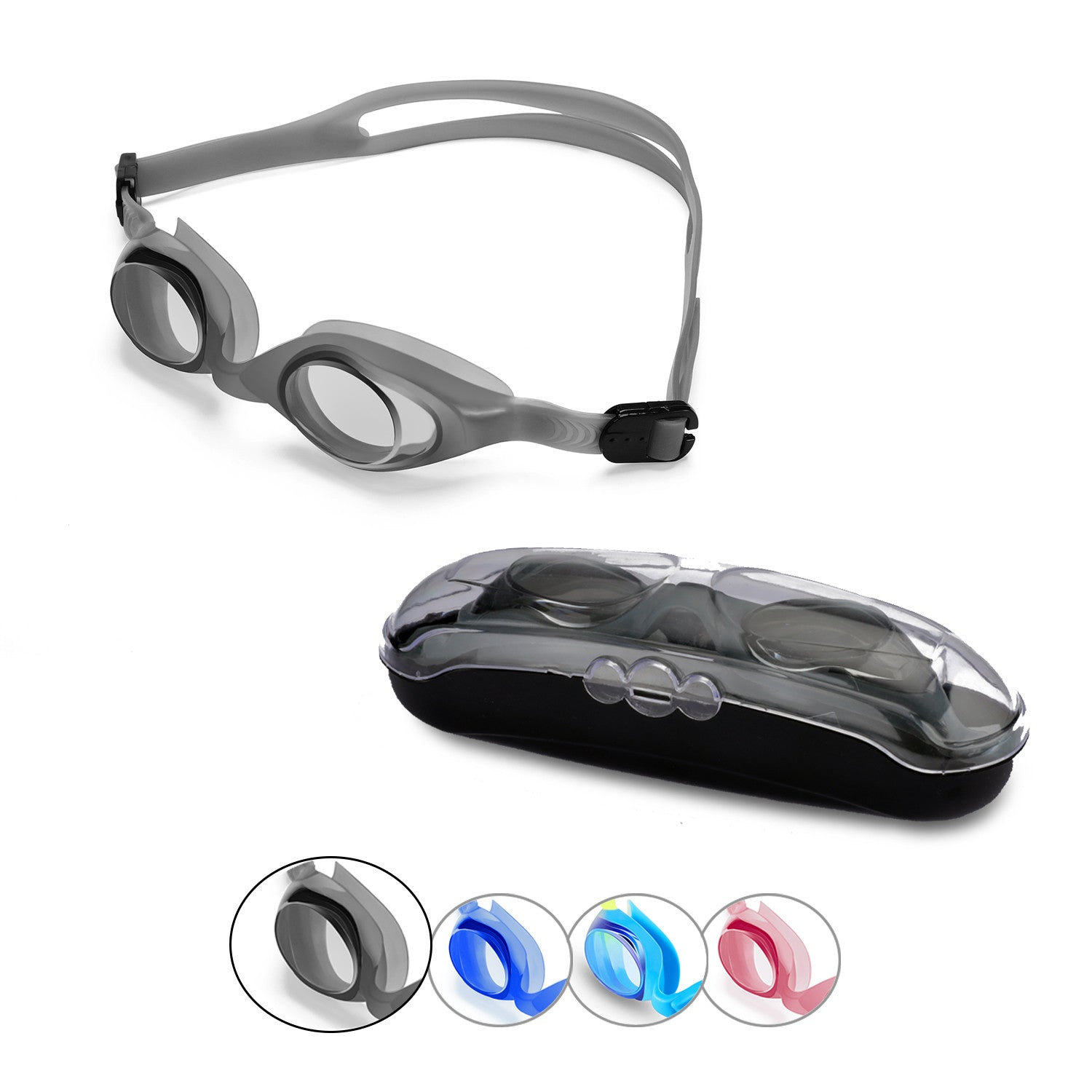 First-Start Kids Anti-Fog  Swim Goggles (Gray)