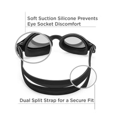 Freestyle Junior Swim Goggles (Black)