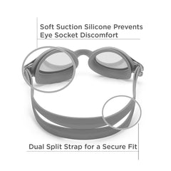 Freestyle Junior Swim Goggles (Gray)