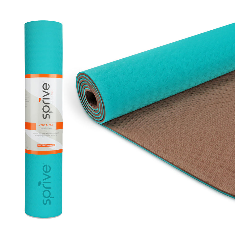 Splay Dual Color TPE Yoga Mat (6mm, 72