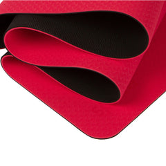 "Standard Dual Color TPE Yoga Mat (6mm, 72"" x 24"", Special Red/Black)"