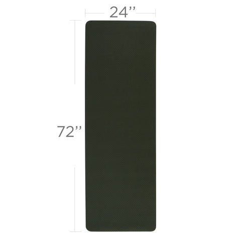 "Standard Dual Color TPE Yoga Mat (6mm, 72"" x 24"", Tree Green/Neon)"