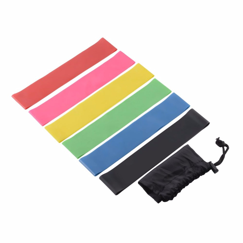 Resistance Band Set 6 Level Resistance Exercise Loop Bands Natural Latex Gym Fitness Strength Training Yoga Loop Bands In Stock