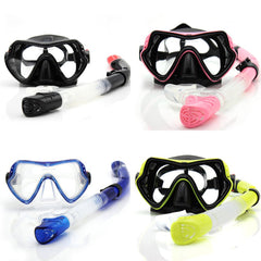 Professional Scuba Diving Anti-Fog Mask with Snorkel. 4 Color Adult Kids