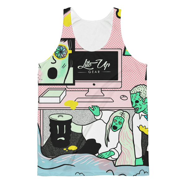 "Unisex Classic Fit Tank Top - John Kaleidoscope St 01 ""A New World"""