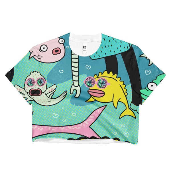 "Ladies Crop Top ""John's Story Pt. 6: Swim With The Fishes"""