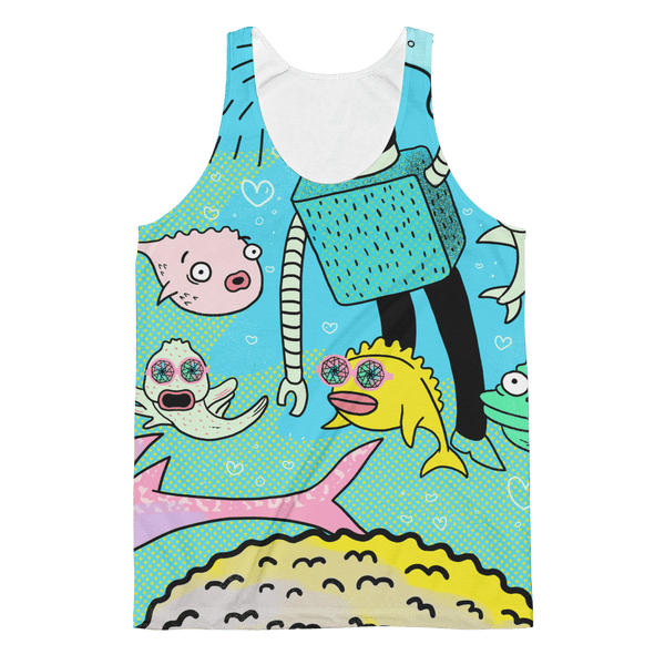 "Unisex Classic Fit Tank Top - John Kaleidoscope St 06 ""Swim With The Fishes"""
