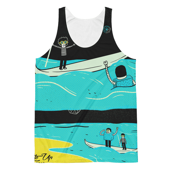"Unisex Classic Fit Tank Top - John Kaleidoscope St 07 ""Save Me"""