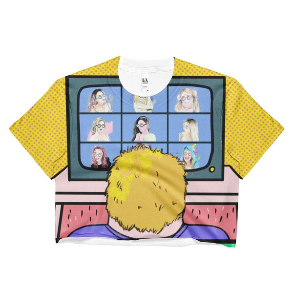 "Ladies Crop Top ""John's Story Pt. 12: Brady Bunch"""