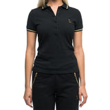 WOMEN'S OWL PATCH POLO - BLACK