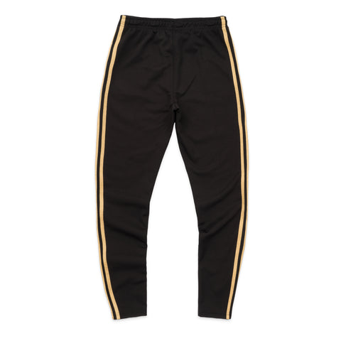 WOMEN'S OWL PATCH HIGH WAISTED TRACK PANT - BLACK