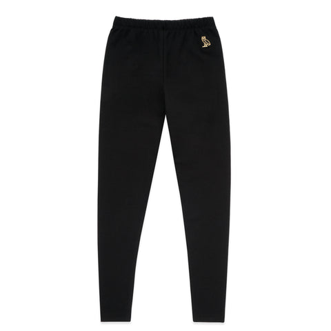 WOMEN'S OWL PATCH HIGH WAISTED LEGGING - BLACK