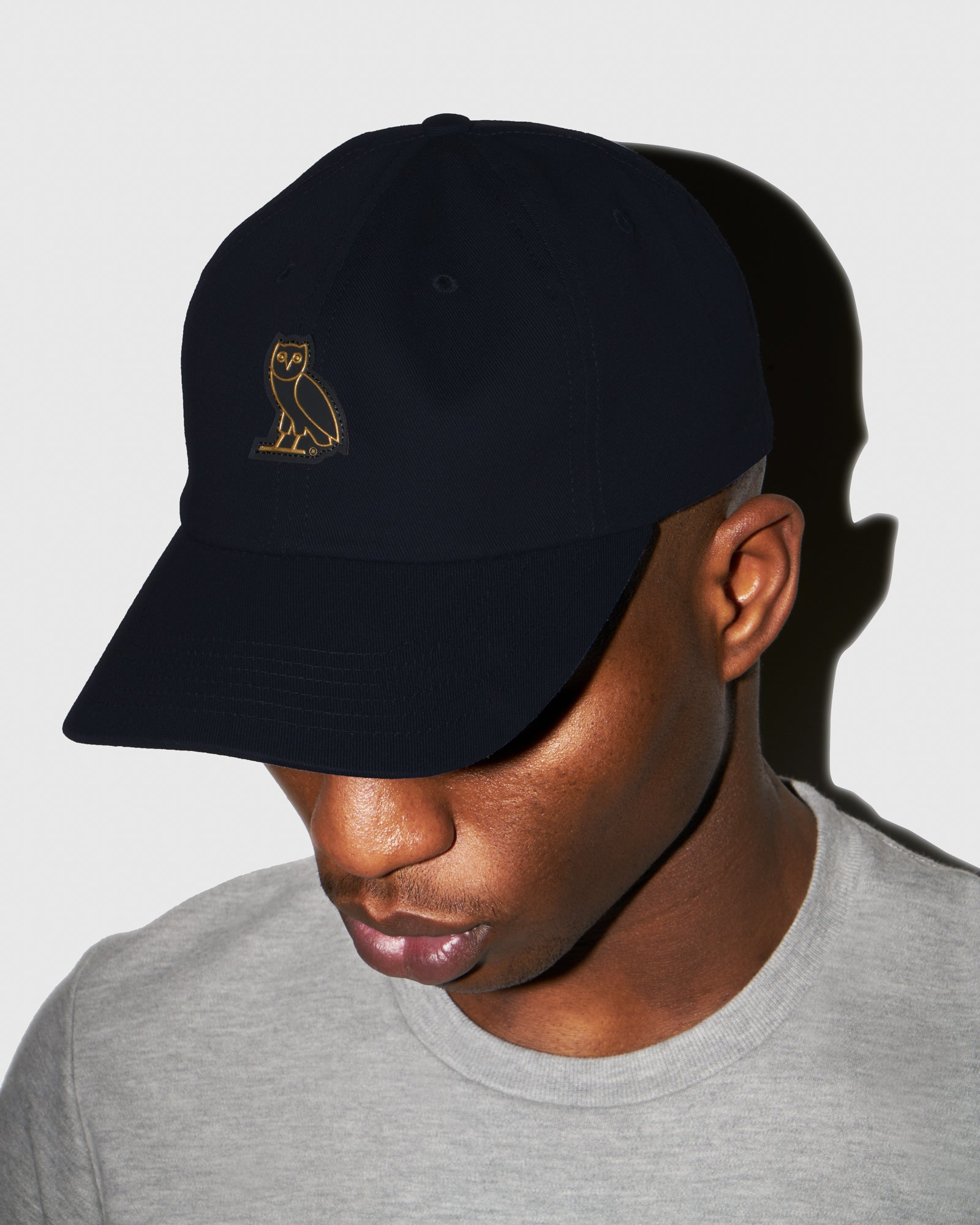 OVO COTTON TWILL CAP - NAVY IMAGE #2