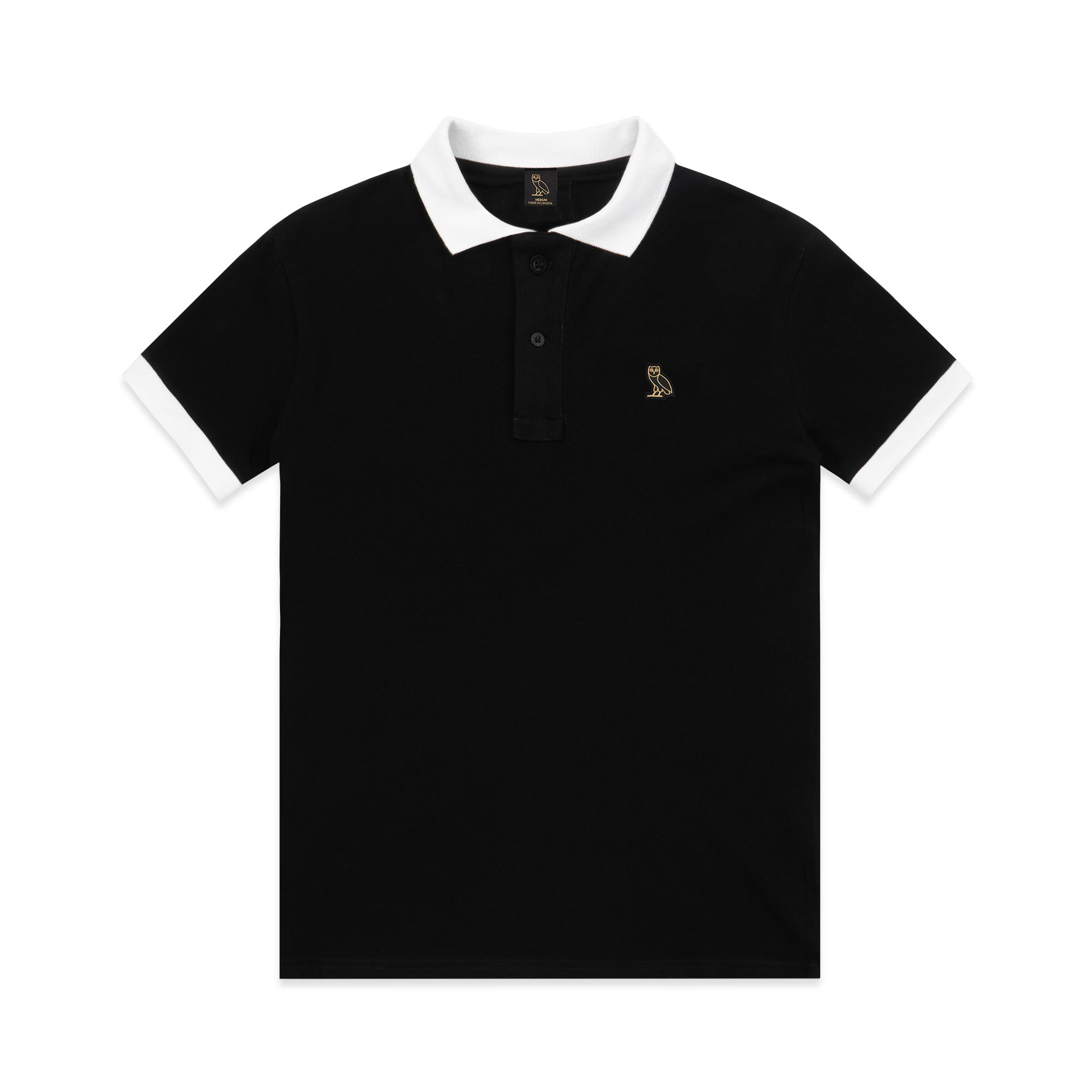 STACKED CLASSIC PATCH POLO - BLACK