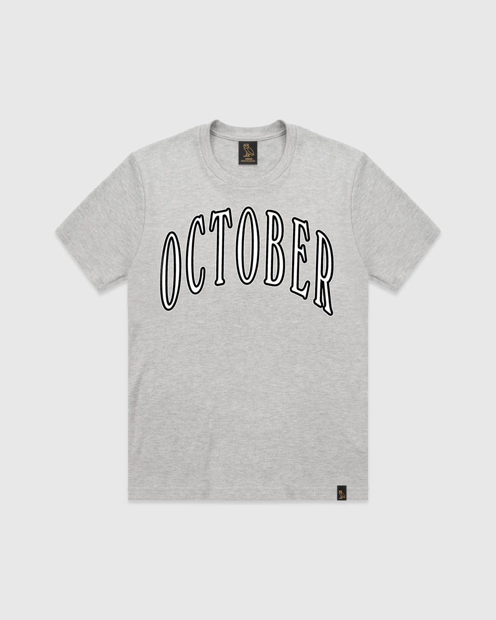 OCTOBER ARCHED T-SHIRT - HEATHER GREY