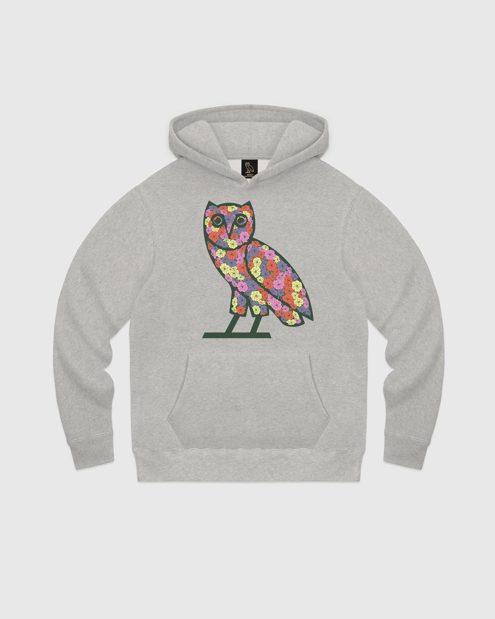 CELEBRATION OWL HOODIE - HEATHER GREY IMAGE #1