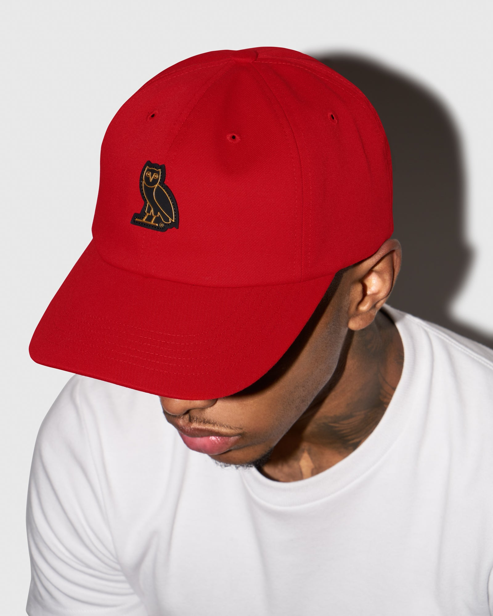 OVO COTTON TWILL CAP - RED IMAGE #2
