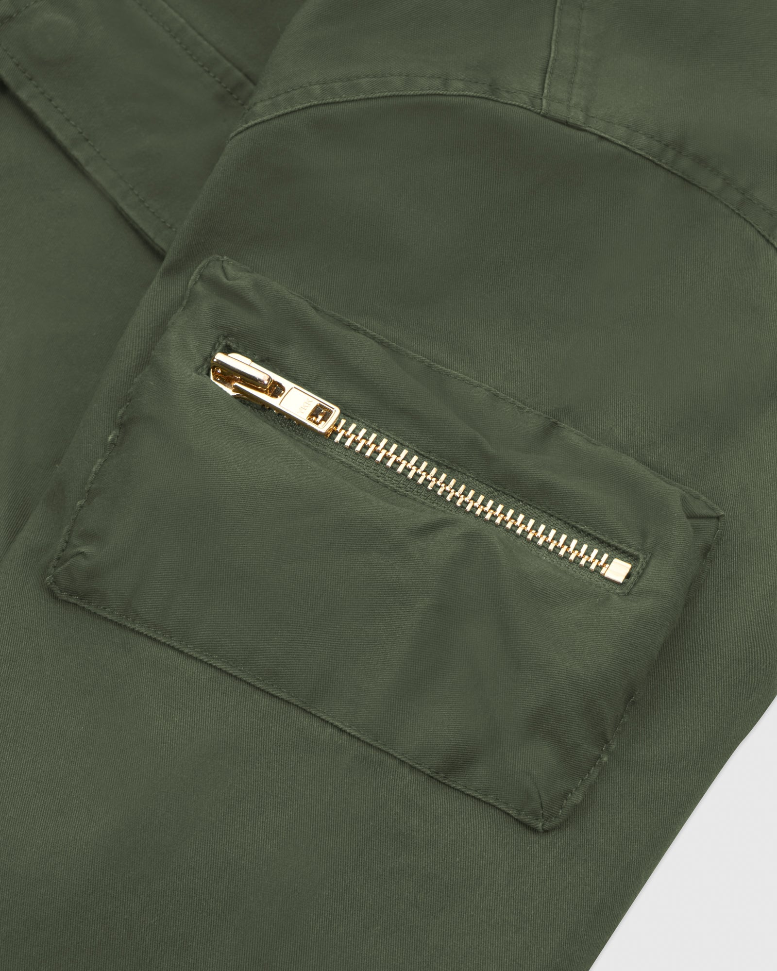HOODED CARGO JACKET - MILITARY GREEN IMAGE #4