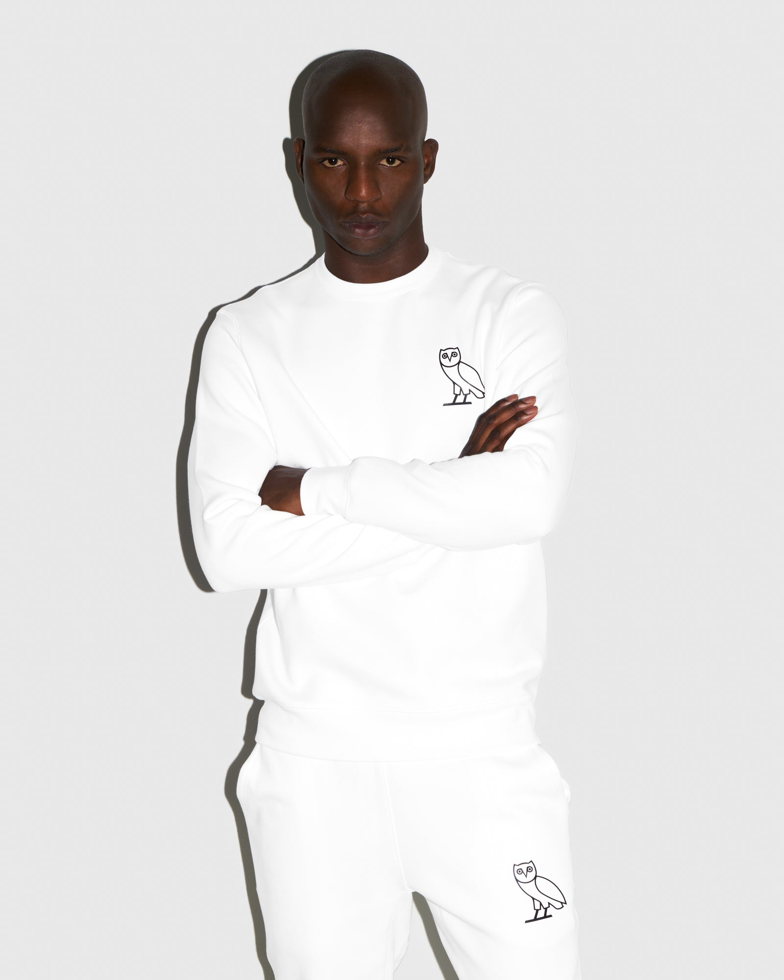 DOUBLE KNIT CREW - WHITE IMAGE #2