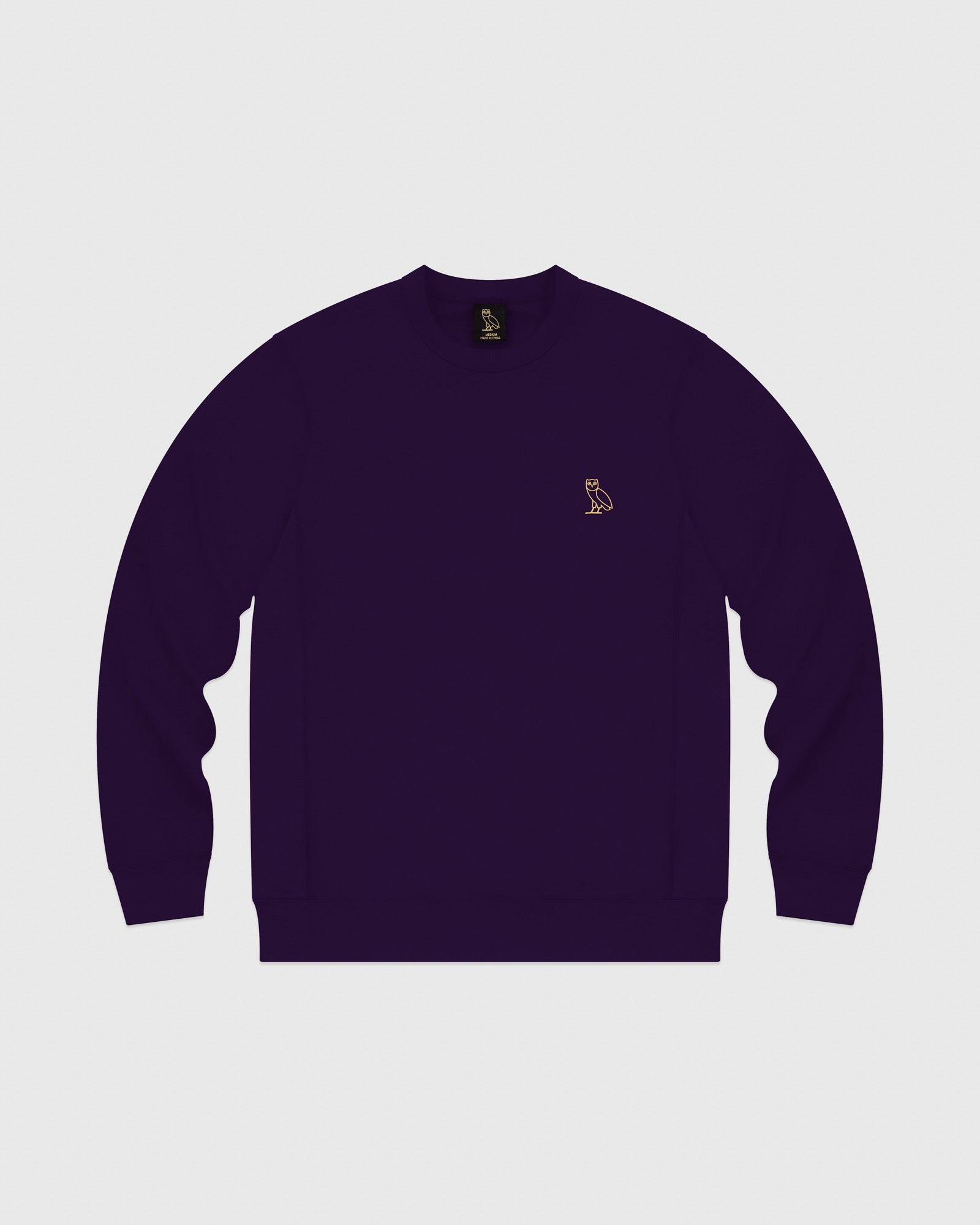 MID-WEIGHT FRENCH TERRY CREW - PURPLE