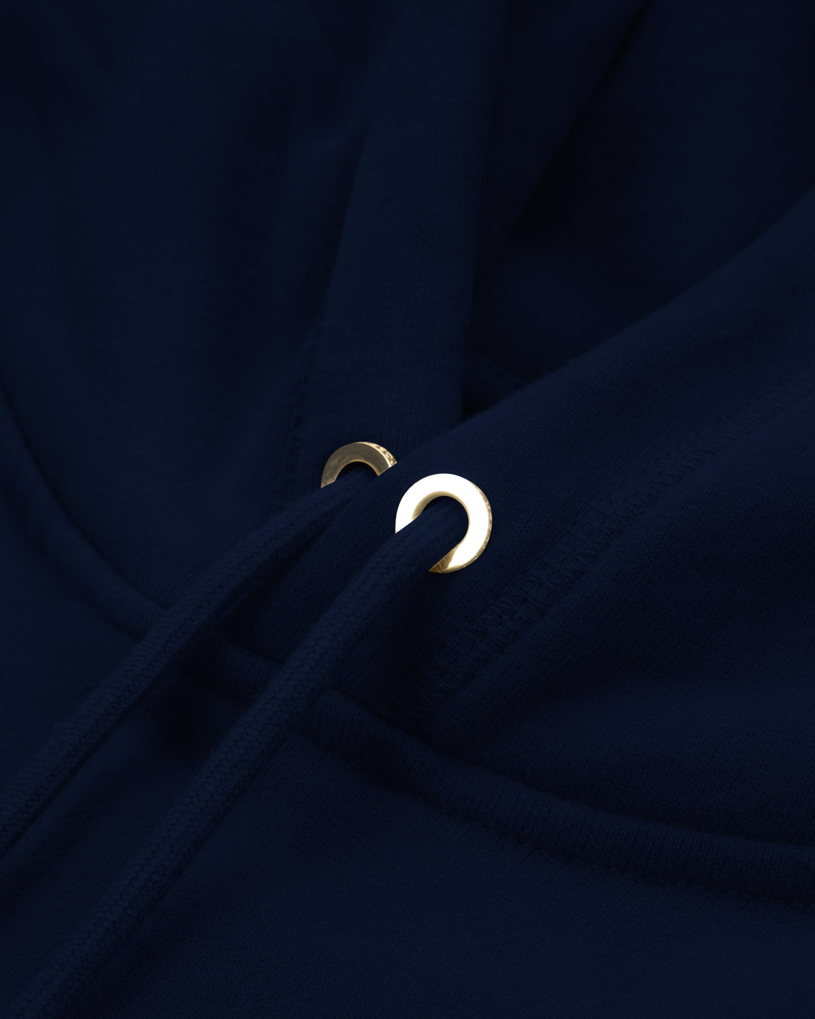 MID-WEIGHT FRENCH TERRY HOODIE - NAVY IMAGE #4