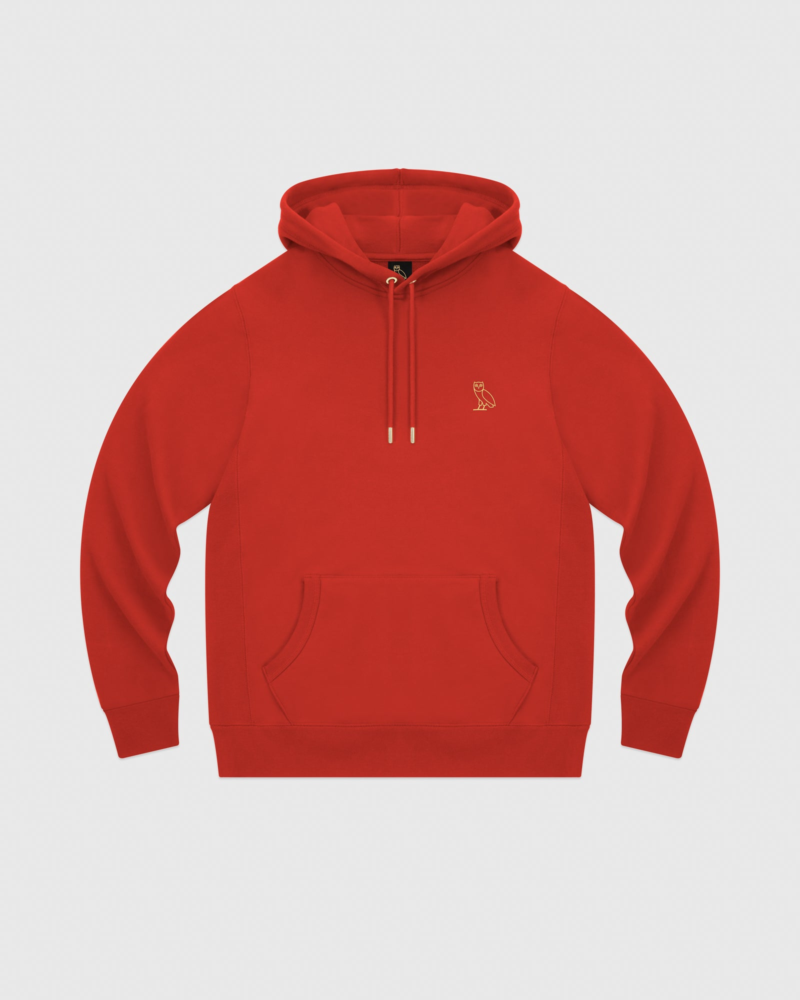 MID-WEIGHT FRENCH TERRY HOODIE - RED IMAGE #1